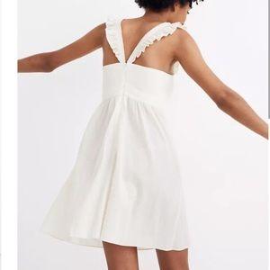 Madewell Ivory Flutter Sleeve Empire Dress. 0